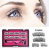 Magnetic Eyelashes, Long Dual Magnetic Eyelashes Plus Tweezers, 0.2mm Ultra Thin Two Magnets False Eyelashes, 3D Lash Eyelash Curler Kit (2 Pairs / 8 Pieces)