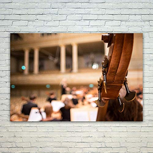 wonbye Modern Artwork Giclee Canvas Prints - Orchestra Music - Pictures on Canvas Wall Art for Living Room Bedroom Home Decorations, 12 x 15 in