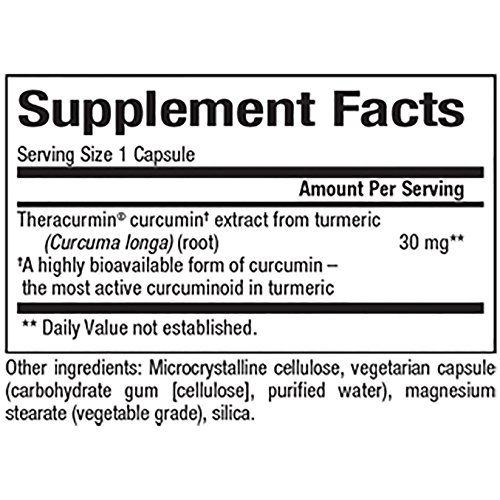 CurcuminRich by Natural Factors, Theracurmin, Supports Natural Inflammatory Response, Joint and Heart Function, 120 capsules 120 servings