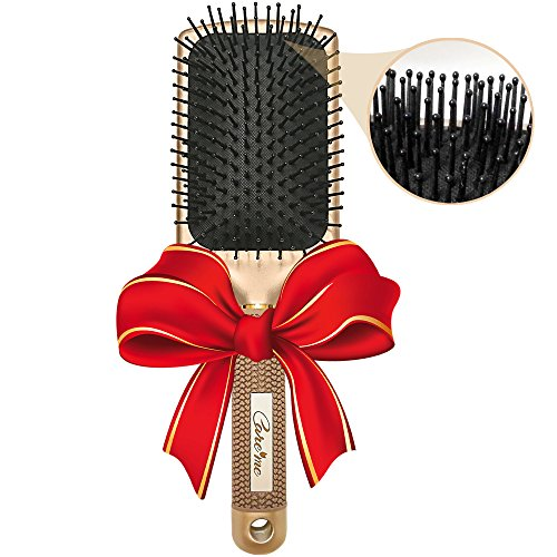Large Flat Brush (Large Flat Paddle Brush with Nylon Bristles – Detangle, Smooth, Straighten All Hair Types – Best for Thick, Medium to Long Hair, Men or Women)