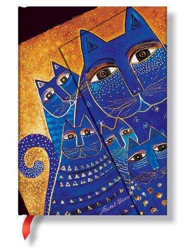 Laurel Burch Katzen Mittelmeer - Notizbuch Midi Unliniert - Paperblanks