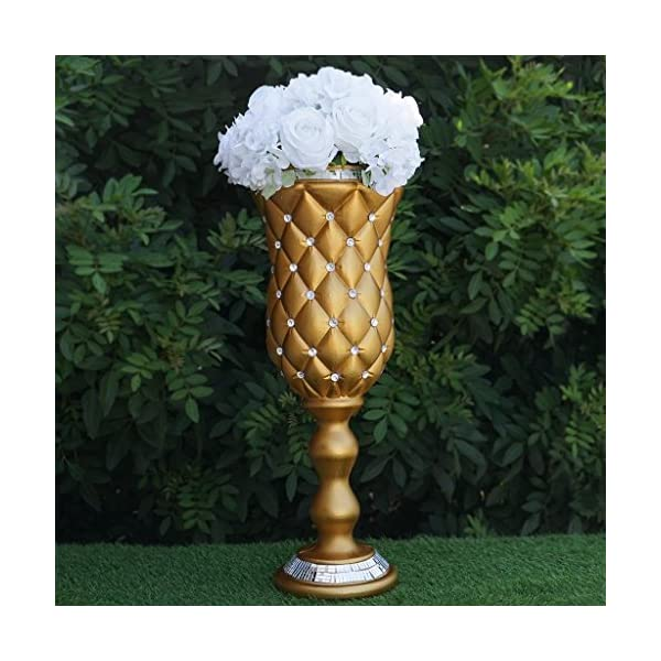 BalsaCircle-6-pcs-24-Tall-Gold-Vases-with-Crystal-Beads-for-Wedding-Party-Flowers-Centerpieces-Home-Decorations-Bulk-Supplies