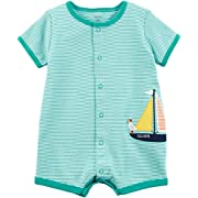 Carter's Baby Boys' Sailboat Snap-up Cotton Romper Newborn