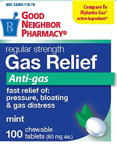 Good Neighbor Pharmacy Gas Relief 100ct Chewable Tablets, Mint