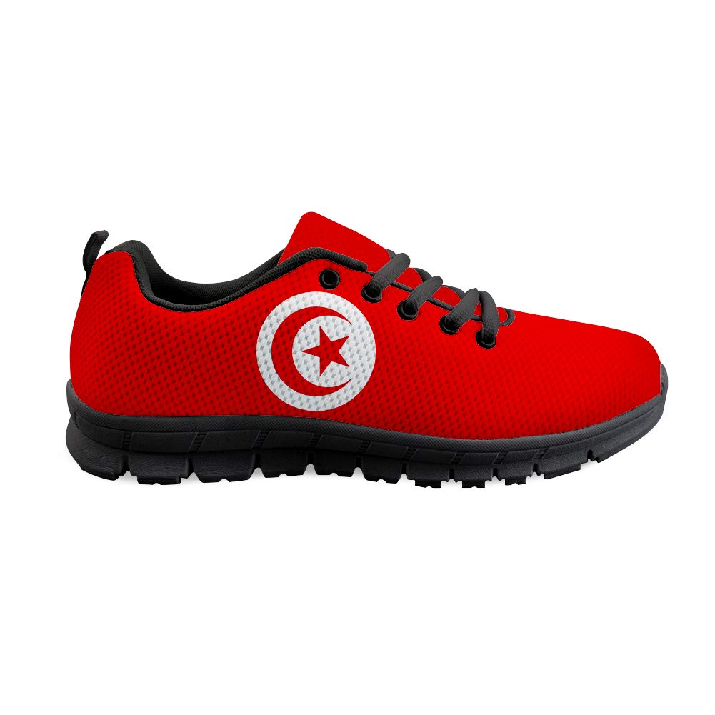 Owaheson Lace-up Sneaker Training Shoe Mens Womens Tunisia Flag