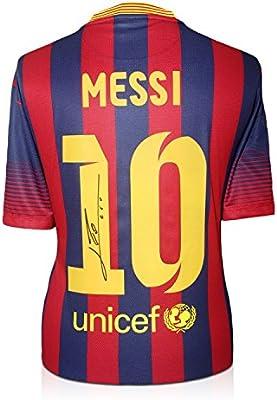 2013-14 de Barcelona camiseta de fútbol firmada por Lionel Messi ...