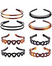 Plastic Tooth Hair Comb Headband Hard Headbands Ribbon Hairband Women Men Hair Accessory (style01)
