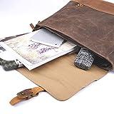 Wintopro Mens Genuine Leather Vintage Waterproof