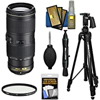 Nikon 70-200mm f/4G VR AF-S ED Nikkor-Zoom Lens with Filter + Pistol Grip Tripod + Kit for D3200, D3300, D5300, D5500, D7100, D7200, D750, D810 Camera
