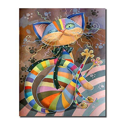 Cat Diamond Painting Kids Diamond Dotz Kits Paint by Numbers for Adults 30 x 40 cm
