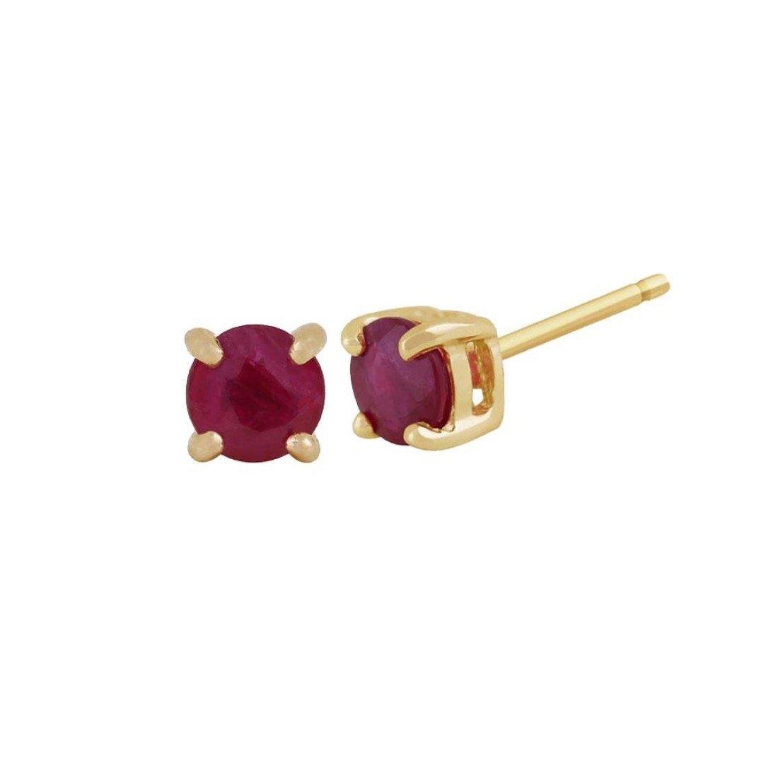 Ruby Round Stud Earrings