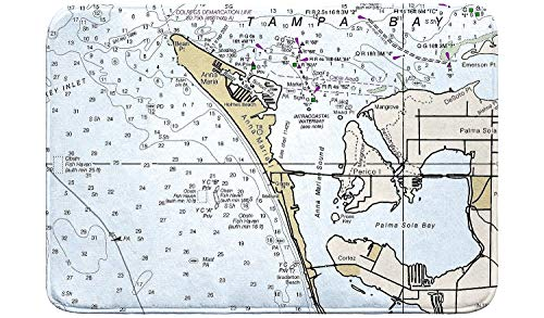 - Betsy Drake Anna Maria Island, FL Nautical Map Bath Mat 24x30