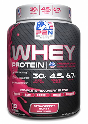 - P2N Peak Performance Nutrition P2N Whey Protein, Strawberry, 2 Pound