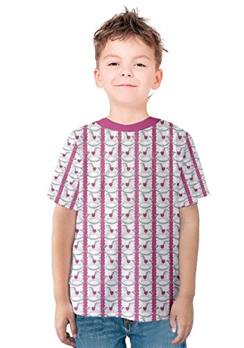 Ribbon Doilies (PattyCandy Boys Tee Toy Animal Horse Doily Ribbon Kids Cotton T-shirt - 4)