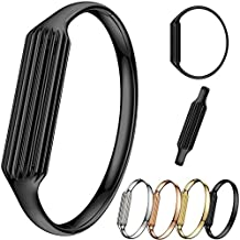 KOBWA Fashion Stainless Steel Accessory Bangle Watch Band Wrist Strap For Fitbit Flex 2
