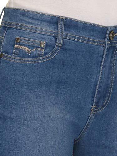 Straight High Denim icecoolfashion Size Blue Stretch 24 Plus Womens Waist Jeans Leg 14 6wCCq1