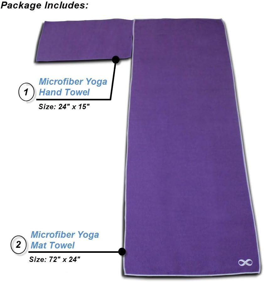 Amazon.com : Hot Yoga Mat Towel and Hand Towel Set of 2-100 ...