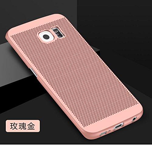 Funda Samsung Galaxy S6,Alta Calidad Ultra Slim Anti-Rasguño y Resistente Huellas Dactilares Totalmente Protectora Caso de Plástico Duro Case,Cuadrícula Disipación de calor Antideslizante Cover(YQ5-2) E