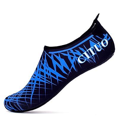 Giotto Barefoot Water Shoes Yoga Beach Swim Aqua Shoes for Women Men-Blue-36-37