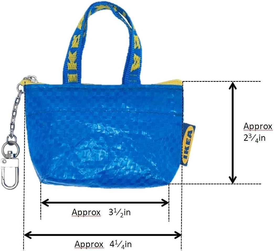 IKEA Key /& Coin Purse KNOLIG Bag Small Blue with One Zipper Bag