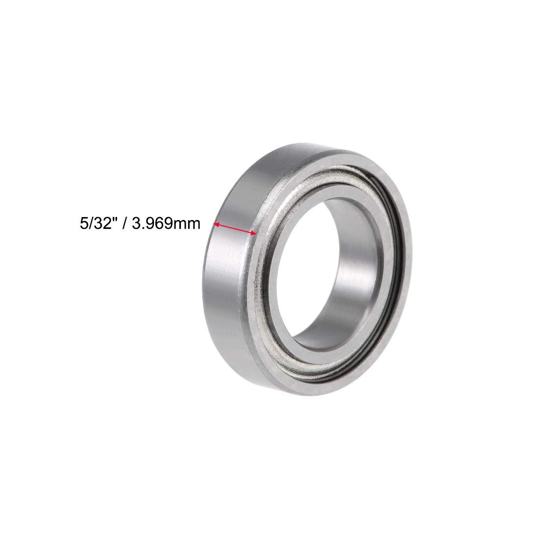 "Metal Shielded Ball Bearing R2-6 Bearings 10 PCS R2-6zz 1//8/"" x 3//8/"" x 9//64/"""