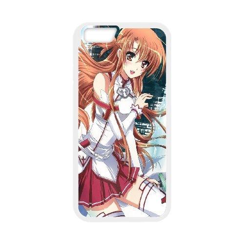 Asuna Sword Art Online coque iPhone 6 Plus 5.5 Inch Housse Blanc téléphone portable couverture de cas coque EBDOBCKCO14598