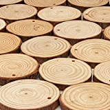 ARTEZA Wood Slices (45 Pieces) with Bark Natural