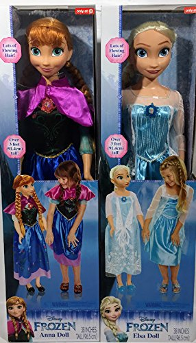 DISNEY FROZEN MY SIZE ANNA AND ELSA DOLLS