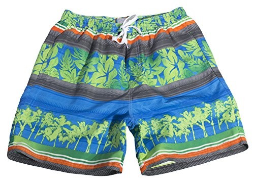 [Tropi Sun Mens Multi Color Floral Boardshorts With Mesh Lining (X-Large,Blue)] (Xxl Santa Suits For Sale)