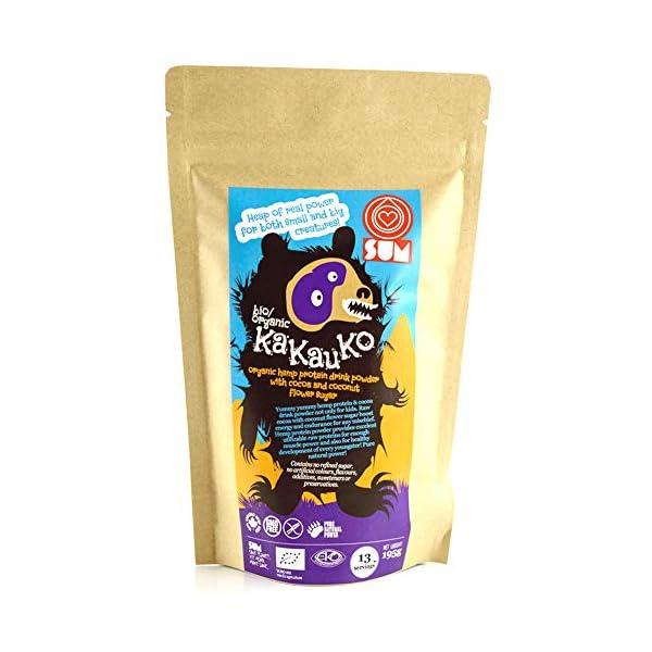 KaKauKo – Plant Based Organic Raw Hemp Protein Beverage with Cocoa – Vegan, Gluten Free, GMO Free – 195g