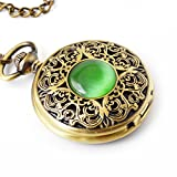 Gem Mechanical Pocket Watch - BOSHIYA Vintage Skeleton Metal Hunter Scale Locket Watches