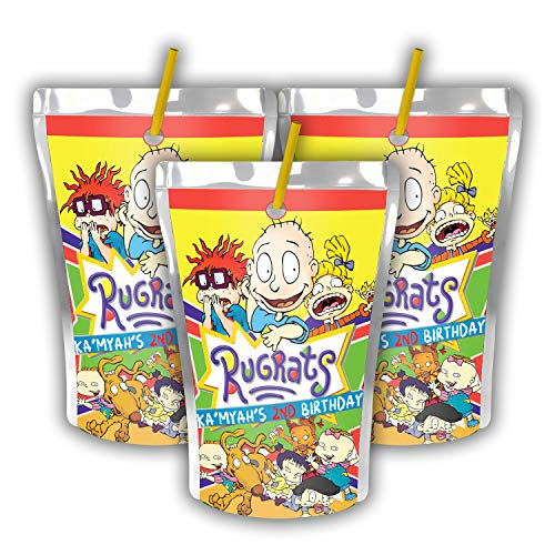 12 Personalized Rugrats Party Juice Pouch Label | Rugrats Party | Birthday Supplies | Roadster Racer Caprisun Label | Capri Sun | Rugrats Party Favors
