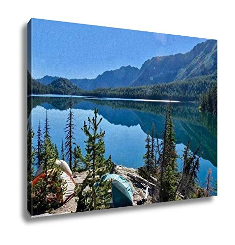 25 Expedition Tent - Ashley Canvas, Campingl Tents On Rocks By Lake In Cascade Mountains, Home Decoration Office, Ready to Hang, 20x25, AG6542704