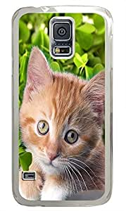 make Samsung Galaxy S5 covers Lazy Cat PC Transparent Custom Samsung Galaxy S5 Case Cover