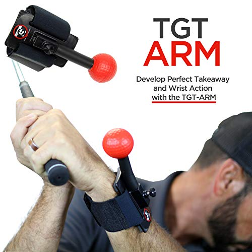 TOTAL GOLF TRAINER Arm - TGT Arm - Golf Training Aids - Teaches The Ideal Wrist Elbow and Arm Position Throughout The Golf Swing