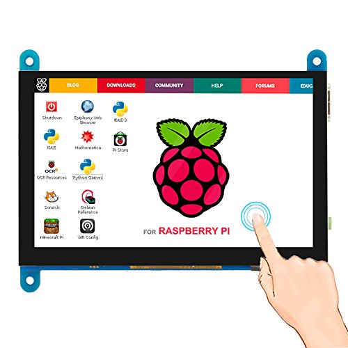 Elecrow 5 inch Capacitive Touch Screen 800x480 TFT LCD Display HDMI Interface Supports Raspberry Pi 4B 3B+ 3B 2B BB Black, Banana Pi Windows 10 8 7