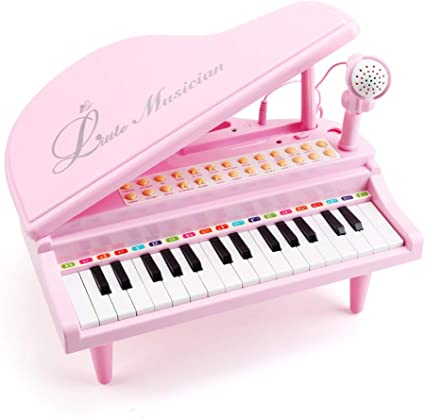 Instrument with Microphone Gift for Baby 31Keys Electronic Keyboard Music Toys Early Educational Toddler Toy Amy/&Benton Piano Music Toys for 1 2 3 Years Old