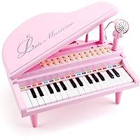 Amy & Benton Juguete de Piano para Niños Pequeños, 31 Teclas Instrumento con Micrófono Educativo Teclado Juguete de…