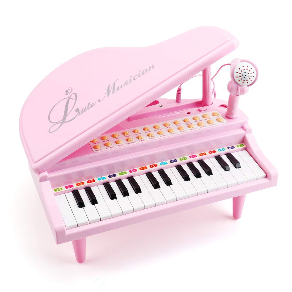 Amy & Benton Toddler Piano Toy for Baby Girls Pink 31 Keys Multifunctional Music & Sound Birthday Gift Toys for 2 3 4 Year Old by Amy & Benton