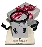 Kate Spade New York Jazz Things Up Black Cat Bracelet O0RU2010 bundle with matching Stud Earrings O0RU2086