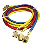 Rheem 45360 Rubber Refrigerant Hose Set, 5' Length, Anti-Blowback Fittings, 0.25'' ID, 0.500'' OD