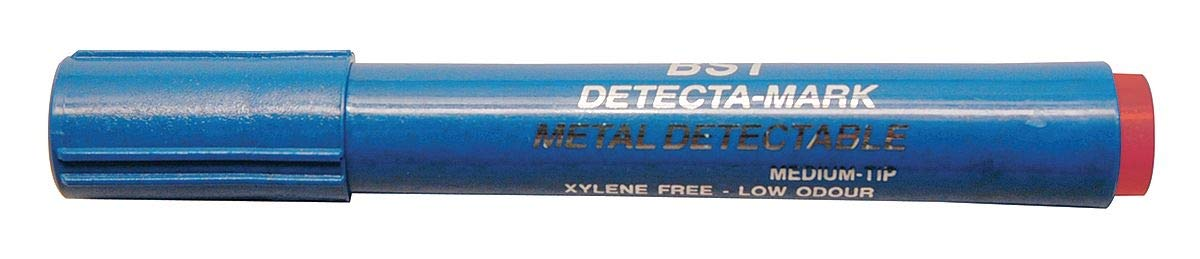 Detectapro Metal Detectable Dry Erase Marker with Red Ink PK10 - DEPENRD