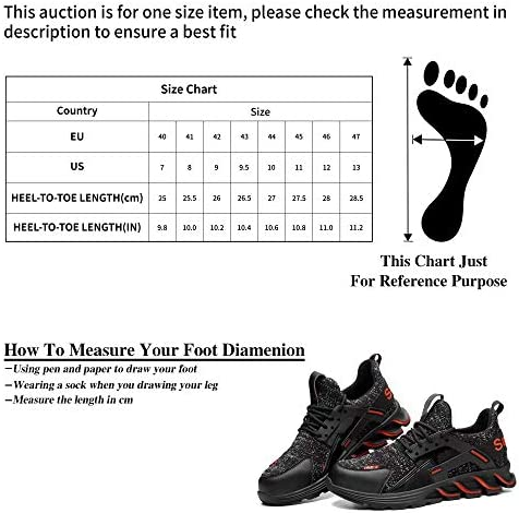 51luIL7%2BnXL. AC TOSAFZXY Work Steel Toe Shoes Men Women, Puncture Proof Steel Toe Sneakers,Work Shoes Slip-Resistant Shoes Lightweight Breathable, Industrial & Construction Comfortable    Product Description