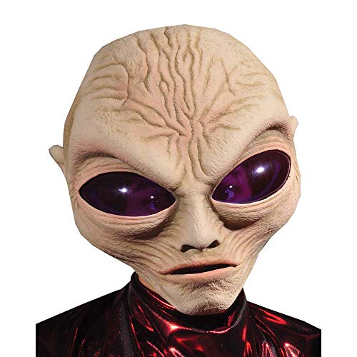 Zagone Grey Alien Mask, Large Eyed Alien Creature, Big Head