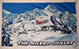 Coors Light Silver Bullet Train Beer Flag 3' X 5' Indoor Outdoor Banner