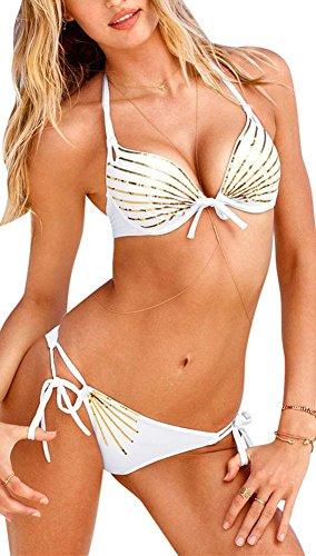 Blidece Womens Push up Bikini Trikini Swimwear Swimsuit 2 Piece M
