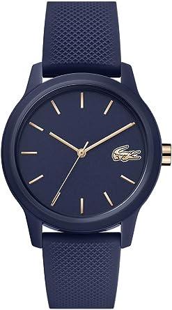 Lacoste TR90 Quartz Watch with Rubber Strap, Blue, 17.2 (Model: 2001067)