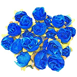 Wedding Touches Royal Blue Rose Bud Decorative Synthetic Flowers 102