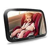 #9: Shynerk Baby Car Mirror, Safety Car Seat Mirror for Rear Facing Infant with Wide Crystal Clear View, Shatterproof, Fully Assembled, Crash Tested and Certified