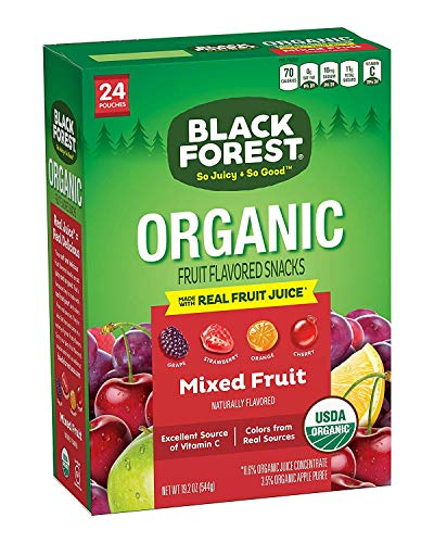 Black Forest Organic Fruity Bites, Strawberry/Cherry/Grape/Orange, 0.8 Ounce Bags, 24 Count